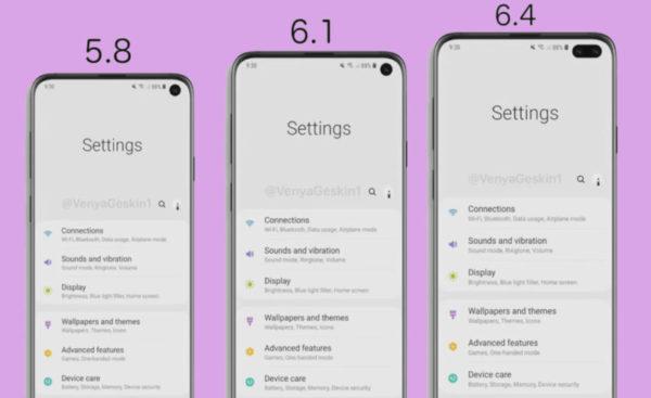 Samsung Galaxy S10, S10Plus, S10e lite